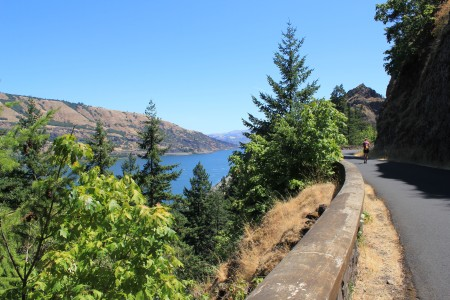 View of the Columbia River gorge on the camino