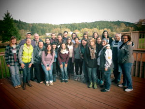 Group photo from first vocational discernment retreat in November, 2015 in Raymond, WA